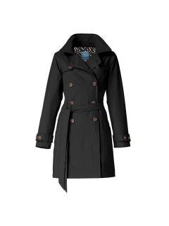 Dames-regentrenchcoat-Happy-Rainy-Days-zwart-Bowie-voorkant