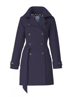 Dames-regentrenchcoat-Happy-Rainy-Days-navy-Nena-voorkant